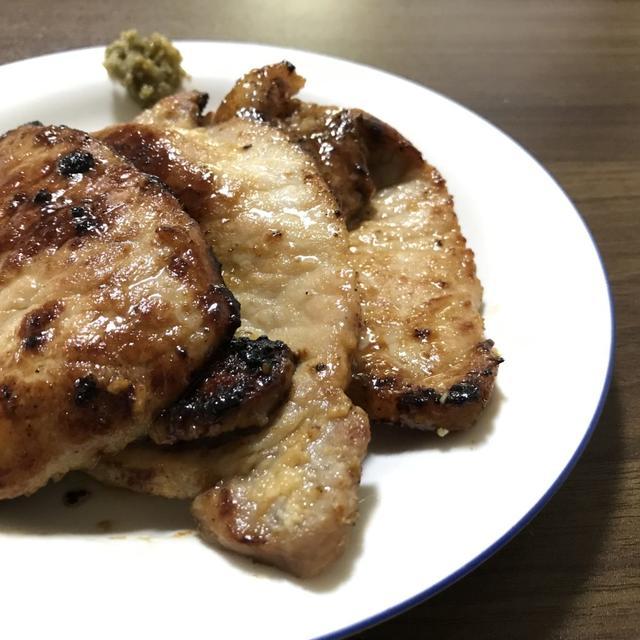 【 漬けて焼くだけ 】分厚い豚味噌焼きの作り方