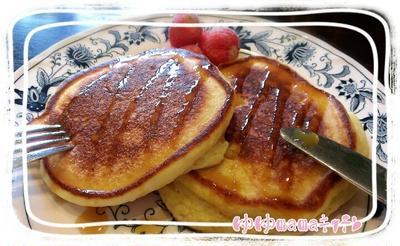 子どもが作る朝御飯♪☆簡単ふんわり~豆腐ホットケーキ