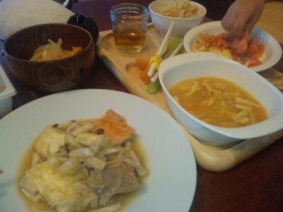 シャケとお豆腐のオイスターソース炒め