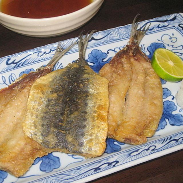 いわしの天ぷら & 焼き椎茸のおろしポン酢