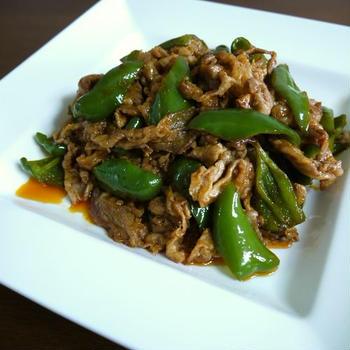 【簡単レシピ】豚肉とピーマンのケチャップ炒め♪
