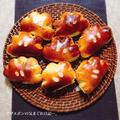 クリームパン・さつま芋のパン・梨のジャム