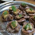 子牛のヒレ肉のソテーフォアグラ添え赤ワインソース