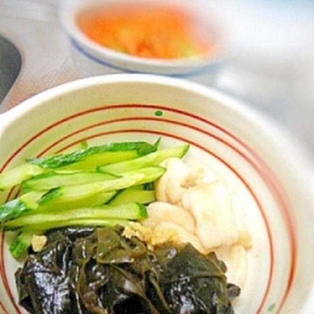 小さな野菜のおかず☆お麩の酢の物