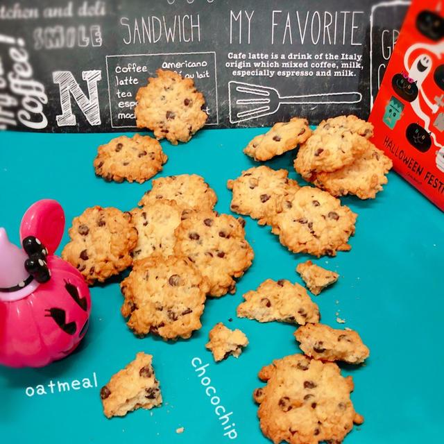 オートミールとチョコチップクッキー