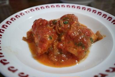 簡単家庭料理 白身魚のトマト煮
