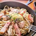 【レシピ】旬★オシャレ★スキレット★おもてなしにも【牡蠣とベーコンのアヒージョパスタ】