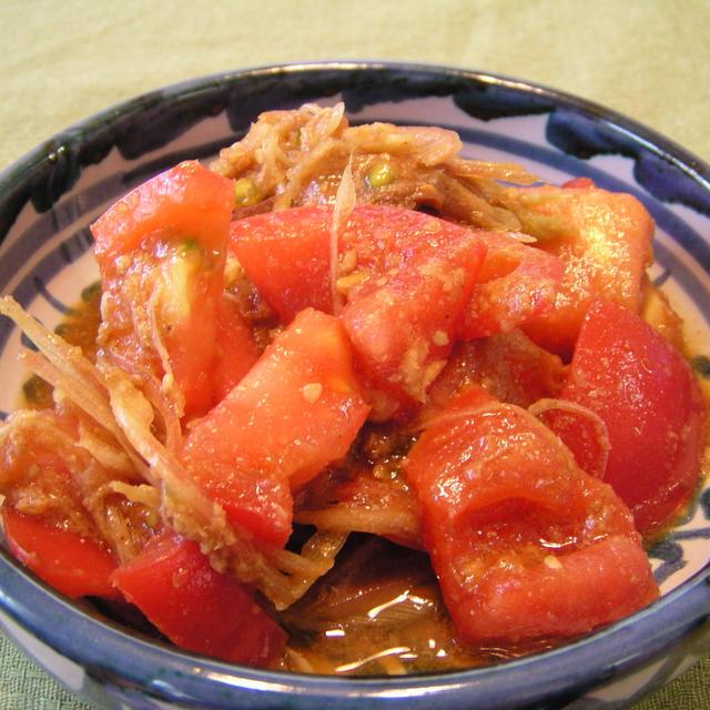 トマトとミョウガのナムル