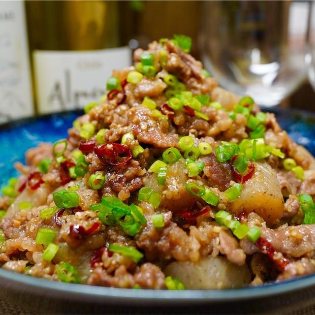 【レシピ】ご飯が進む♬牛肉とこんにゃくのごま味噌炒め♬