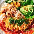 低糖質サラダ素麺!冷しゃぶのせ卵麺のトマトめんつゆ by Misuzuさん