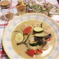 エビと魚のココナッツミルクスープ