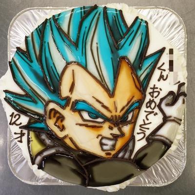 超サイヤ人ゴッドssベジータのイラストケーキ By 青野水木さん