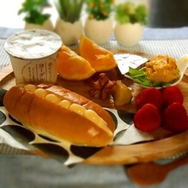 朝食ワンプレート♪ カスタードドッグ