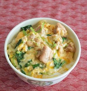 とろ~りチーズと ふわとろ卵の親子丼