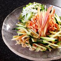 冷やし中華はじめ。。 夏野菜たっぷり 香ばしささみのごまだれ冷やし中華