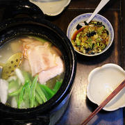 ベーコン湯豆腐