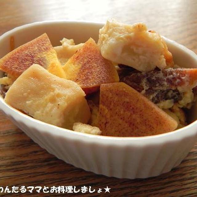 炊飯器で簡単★高野豆腐&柿パンプディング