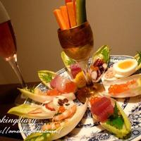 チコリボードレシピ付き【手づかみで食べれるオシャレで簡単なサラダ】