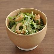ちくわのうま味と塩気がいい!ちくわと水菜のサラダ
