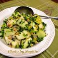 メロンのサラダ・ライムドレッシング和えのレシピ