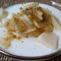 お湯と中種で作る☆手作りヨーグルトDEリンゴヨーグルト