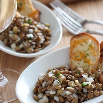 レンズ豆と新玉ねぎのサラダ