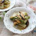 白菜のとろ~りオイバタ炒め☆ふつうの野菜炒めだけど肉を入れたらメインにもなりますょ( ´艸`)