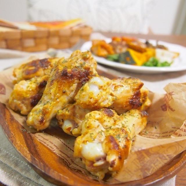 【フライパンで10分!ごはんがすすむ!お弁当にも♪鶏手羽元のガーリックマヨカレー焼き♪♪】