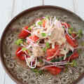 Newレシピ!サバ缶と大根のサラダ