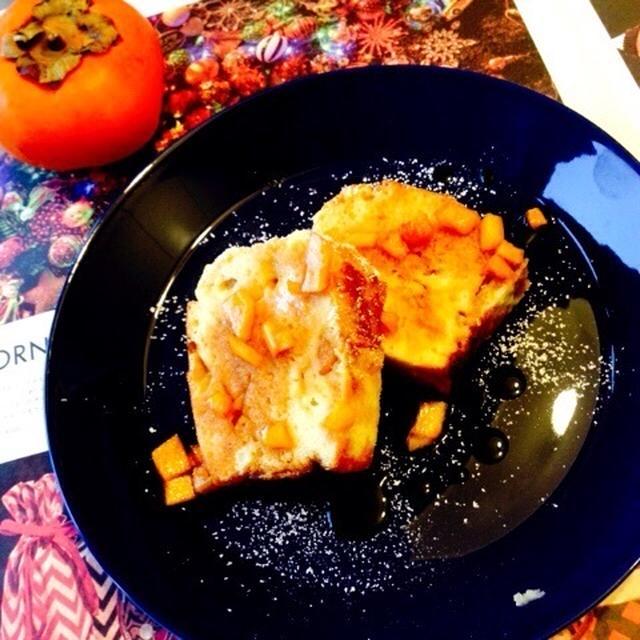 大人のスイーツ♥柿のカラメルパウンドケーキ!