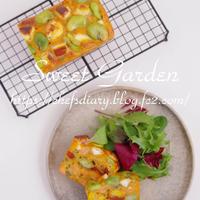 《レシピ》サーモンと彩り野菜のケークサレ★★