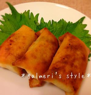 春キャベツとゆで卵の豆腐クリーム春巻