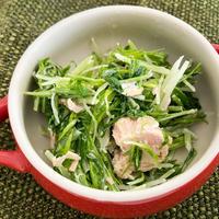 いの一番☆水菜とツナのサラダ