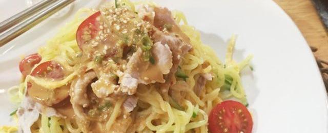 これひと皿で満足♪いろんな味の「冷しゃぶ冷やし中華」