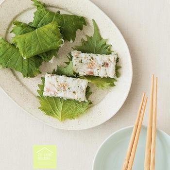 アジのシソの葉寿司