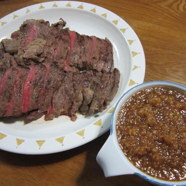 牛ステーキおろしわさびソース