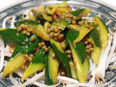 きゅうりのピリ辛山椒塩糀炒め