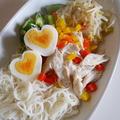 リケンのノンオイル、中華ごま味の冷やし中華風素麺