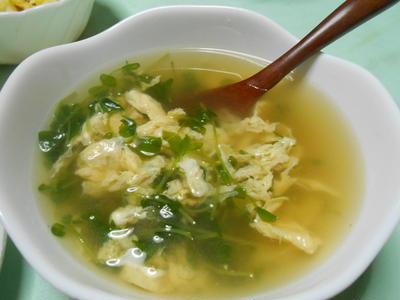 簡単に出来てやさしい味 豆苗スープ