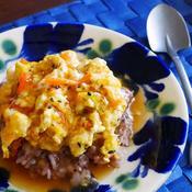 生姜たっぷり あんかけ豆腐&卵とじ丼