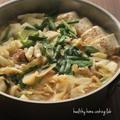 【レシピ】本場の味でびっくり!!鶏肉とキャベツのもつ鍋風