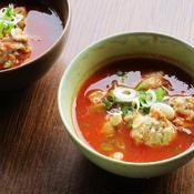 いわしのつみれトマトスープ〜バジル風味