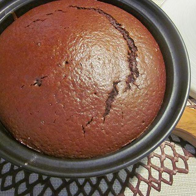 簡単!タジン鍋ヘルシー米油チョコケーキ♪