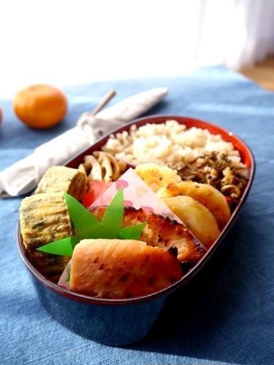 大人弁当~鶏ガラ玄米ご飯レシピ