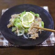 シンプルで簡単に作れる シャキシャキ レタスの生姜焼き