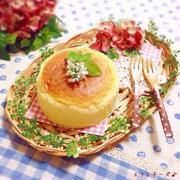 材料3つ♡ふわふわシュワシュワ〜なスフレチーズケーキ♪