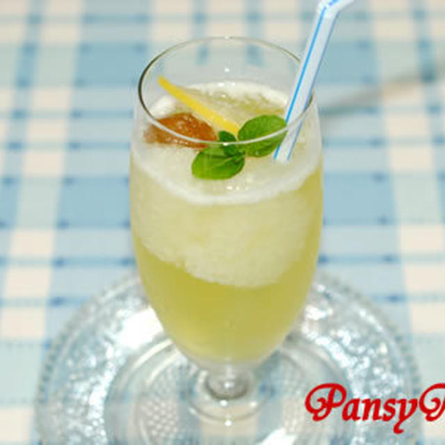 サクレレモンの♪梅酒レモンソーダ【サクレレモンでフローズンドリンク】