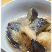 めんつゆで楽々♪「鮭と茄子のおろし煮」。