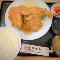 五泉名物「とりかん」から揚げ定食(半身揚げ)・たれかつ「アラモードキムラ」