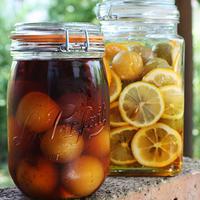 自家製梅はちみつレモンと梅フルブラを漬け込む♪とジャングルにブランコができた♡